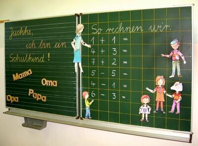 Schule | Tafel in der Unterstufe (c) berwis / pixelio
