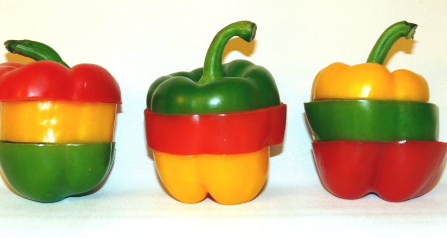 Ernährung | Ampel aus paprika (c) Thomas-Max Müller / pixelio.de